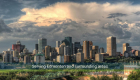 Mainly cloudy skyline of Edmonton